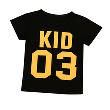 Number Printed Family Matching T-Shirt