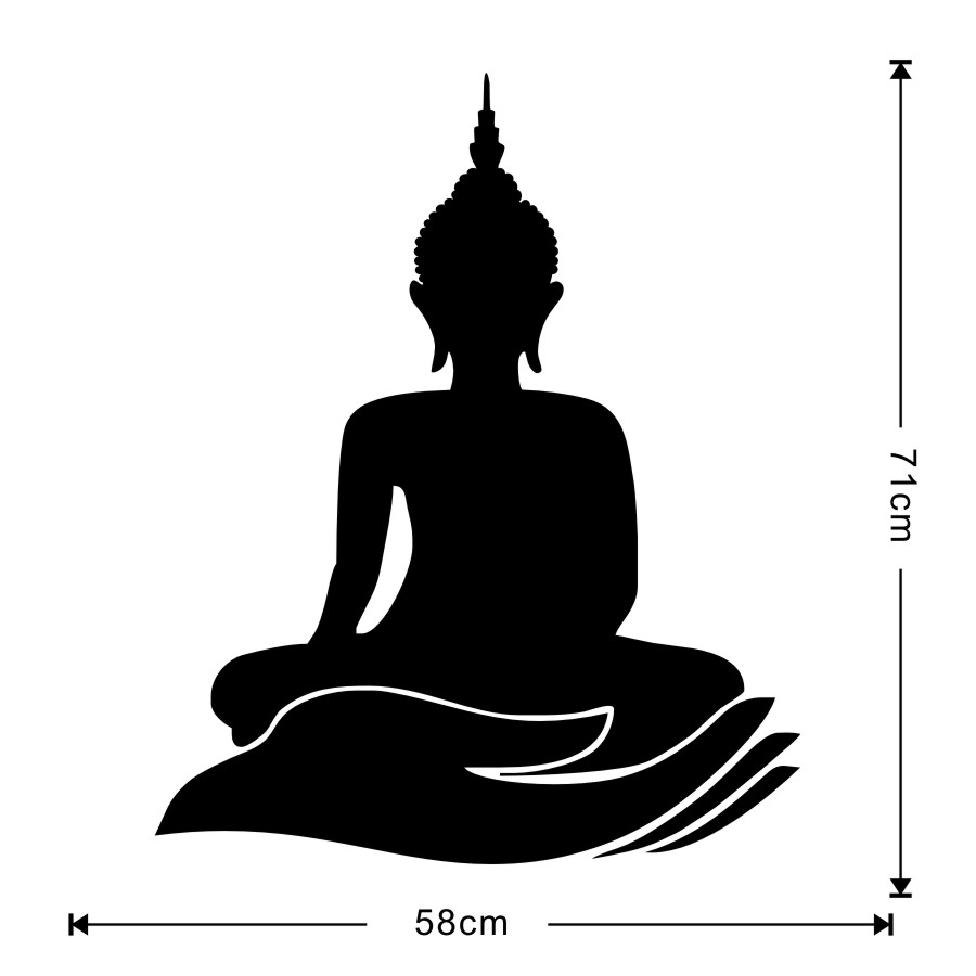 Indian design buddha wall stickers home decor lotus flower buddhism indian design buddha wall stickers home decor lotus flower buddhism symbol removable vinyl wall decal wallpaper for kids rooms in wall stickers from home mightylinksfo