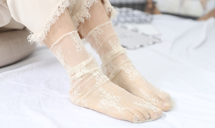 HTB1l5S0TgDqK1RjSZSyq6yxEVXa5 - Sexy Tulle Socks Transparent Thin Long Lace Socks For Women Girl Summer Funny Socks Female Dress Hosiery Loose Sock Street