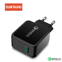 Suntaiho Qualcomm Quick Charge 3.0 USB Phone Charger US Quick USB Charger Travel Wall Charger Adapter for iPhone/Samsung/Xiaomi