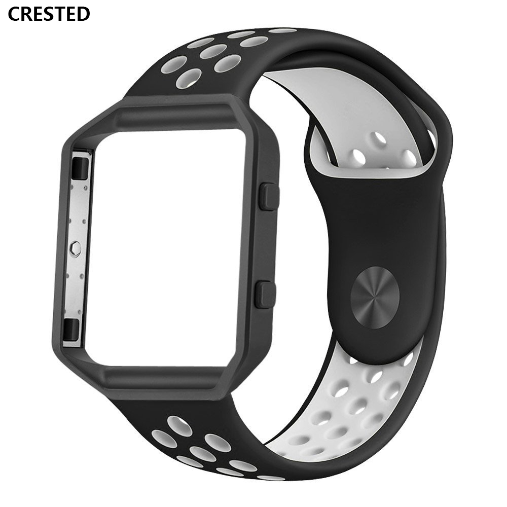 CRESTED Watch Strap For Fitbit Blaze Band replacement Sport Silicone Soft belt  For Fitbit Blaze Smart Fitness Watch With FrameCRESTED Watch Strap For Fitbit Blaze Band replacement Sport Silicone Soft belt  For Fitbit Blaze Smart Fitness Watch With Frame
