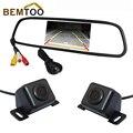 """Bemtoo alta resolución de 4.3 """"tft lcd de coches espejo monitor + cámara frontal y cámara de visión trasera de copia de seguridad a prueba de agua la cámara"""