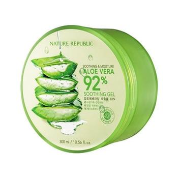 Original Korea Cosmetics NATURE REPUBLIC Aloe Vera 92% Soothing Gel 300ml Acne Treatment Face Cream for Hydrating Moist 電動 鼻水 吸引 器 メルシー ポット