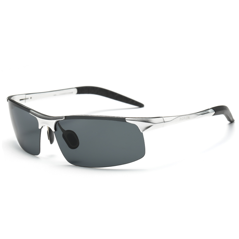 AORON Driving Polaroid Sun Glasses Aluminum Frame Sports Sunglasses Men Polarized Driver Retro UV400 Anti-glare Goggles 16
