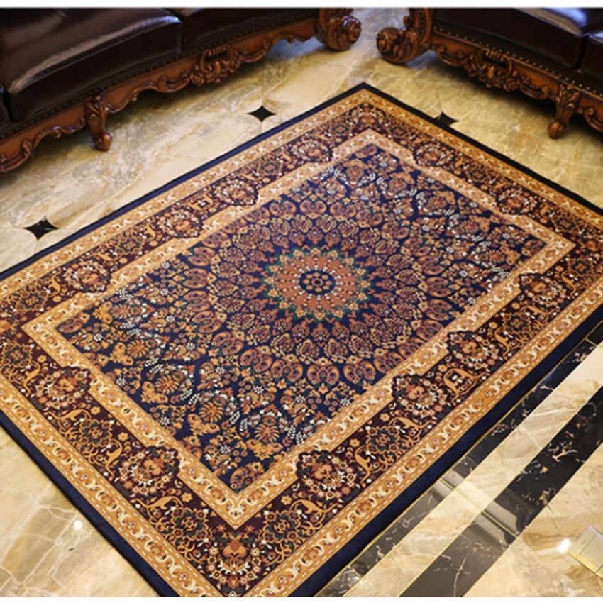 Tapis classique de style rétro pour tapis de table basse de salon, tapis de sol rectangle, tapis de décoration de maison persan