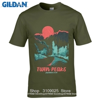 GILDAN DIY Style S T Shirts 2017 Short Sleeve Cotton T Shirts Man Clothing Twin Peaks