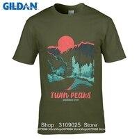 GILDAN DIY Style s t shirts 2017 Short Sleeve Cotton T Shirts Man Clothing Twin Peaks Population s Graphic T Shirt