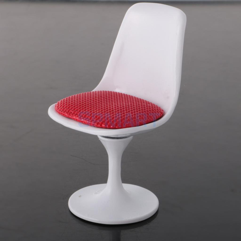 1:12 Dollhouse Miniature Furniture Tulip Chair Swivel