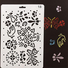 Stencil Reusable Craft Layering Stencils For Walls Scrapbooking Painting Template Stamps Album Decorative Embossing Paper Cards free shipping different layering stencils painting template stamps for diy scrapbooking photo album cards decorative embossing