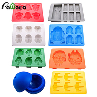 Kitchen DIY Star Wars Theme Silicone Tray Ice Cube And Jelly Candy Mold Ball Shaped Cupcake