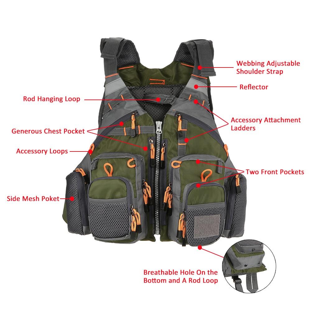 Outdoor Sport Fishing Life Vest  (15)