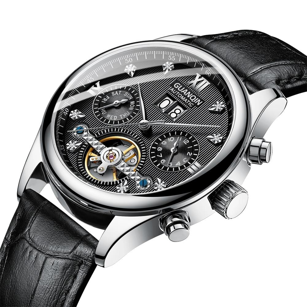 HTB1l5TKaojrK1RkHFNRq6ySvpXa2 GUANQIN 2019 Automatic clock men Mechanical watch men Tourbillon waterproof top brand luxury dropshipping date relogio masculino