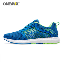 купить ONEMIX men running shoes breathable gauze mesh shoes light cool sneakers for outdoor lace-up shoes walking jogging sneakers по цене 2326.49 рублей