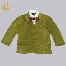Nimble boys suits for weddings Kids Blazer Green boys prom suits children's blazer suit for boy jogging garcon 3pcs/set