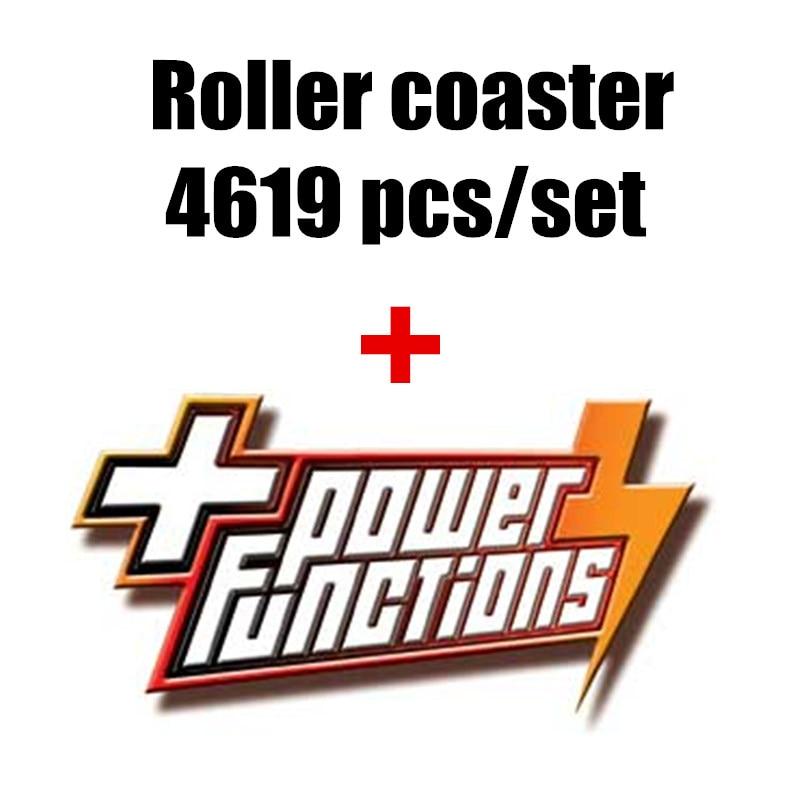 Nova função De Potência Do Motor Motorizado roller coaster criador fit legoings 10261 técnica da cidade figuras building Block Bricks diy Brinquedos