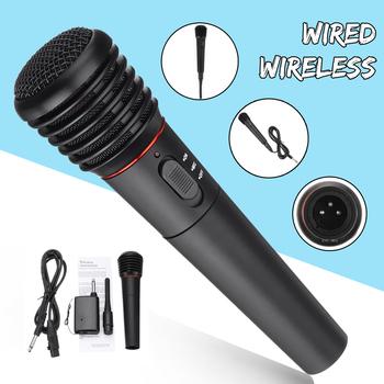 Przewodowy lub bezprzewodowy 2w1 mikrofon ręczny Mic system odbiornika mikrofon bezprzewodowy do Karaoke Party KTV Performance Universal tanie i dobre opinie Karaoke mikrofon Dynamiczny Mikrofon Pojedyncze Mikrofon other wireless Dwukierunkowy Rysunek-8 KINCO