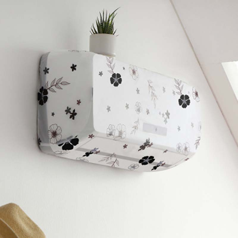 Flower Pattern Air Conditioning Cover Home Decor Air Conditioner Waterproof Cleaning Cover Washing Anti-Dust Cleaning Cover 1PC