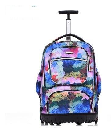โรงเรียนกระเป๋าเป้สะพายหลัง 19 นิ้วกระเป๋าเป้สะพายหลังกระเป๋าเป้สะพายหลังสำหรับโรงเรียนเด็กกระเป๋าล้อเด็กรถเข็นกระเป๋าเป้สะพายหลังกระเป๋าสำหรับวัยรุ่น-ใน กระเป๋านักเรียน จาก สัมภาระและกระเป๋า บน   2