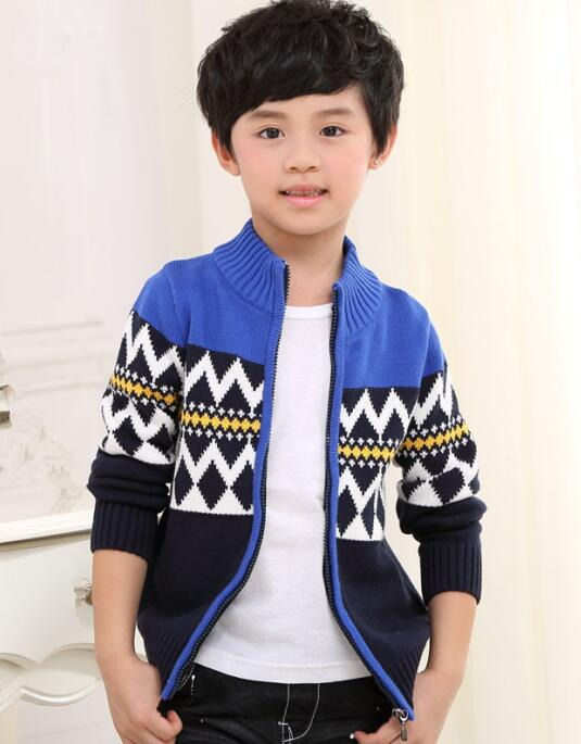 2018 autumn children's clothes boys sweaters causal stand collar thicken cotton boy knitted cardigan sweaters for boys big kids shawl collar knitted open front longline cardigan