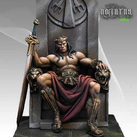 54MM Barbarian King Unpainted Resin Model Kit Figure Free Shipping