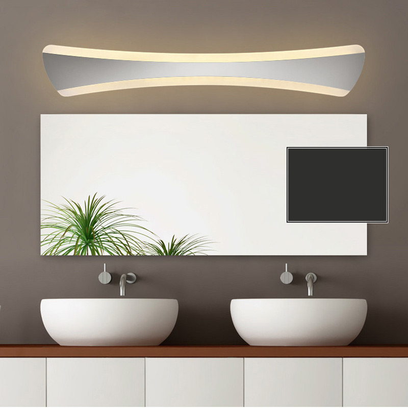 ФОТО 520mm tie shape led bathroom mirror light 85-265V 15W bedroom vanity wall sconce foyer corridor docoration lamp