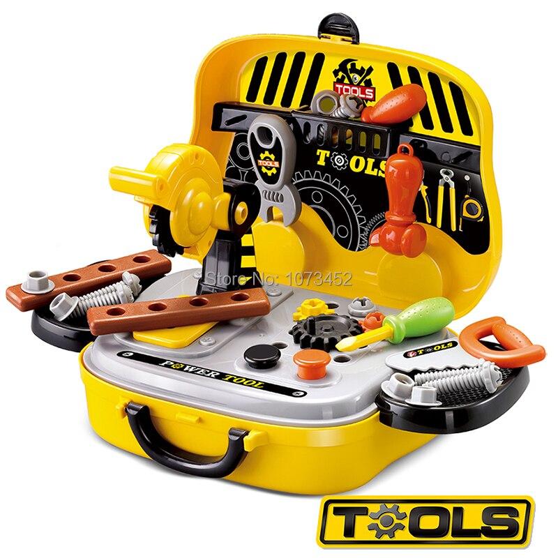 Valise jouets ingénieur outils accessoires pour enfants jeu de rôle simulation constructeur kits semblant jouer jouet éducatif brinquedo menino