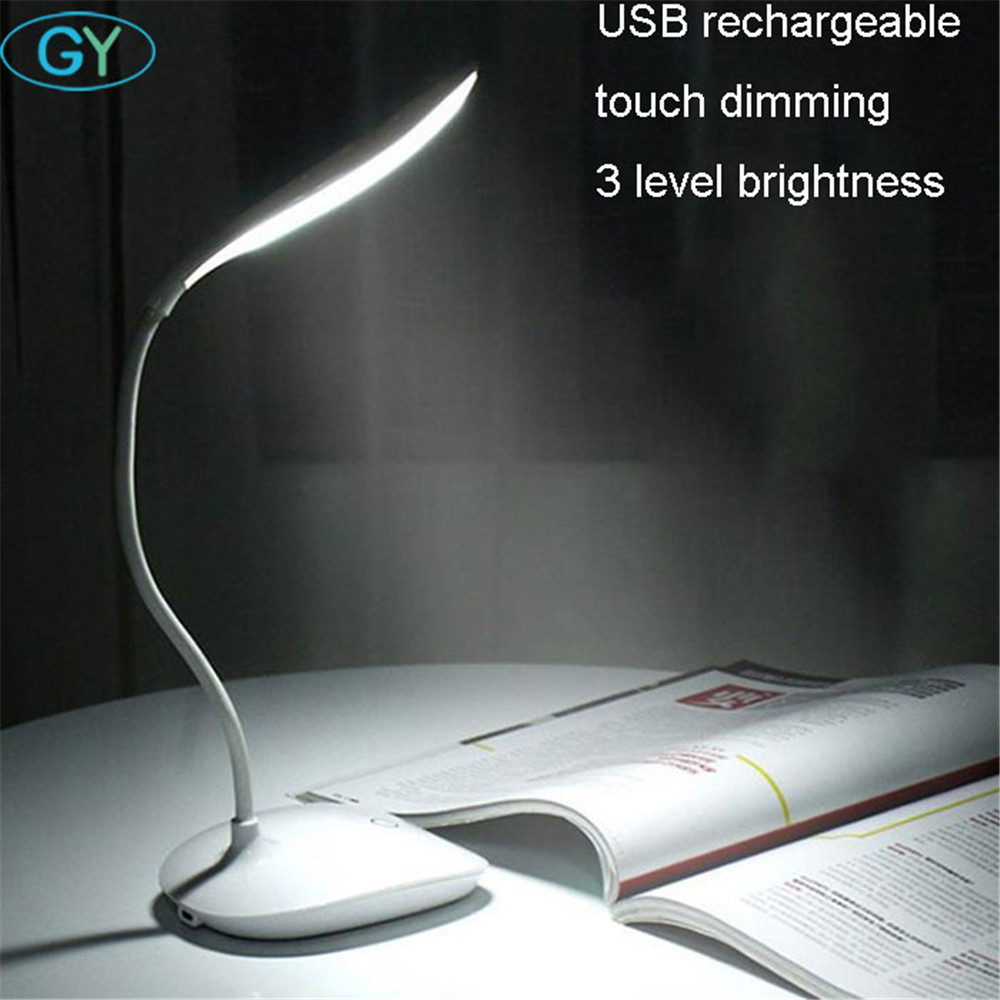 wholesale USB charging led book light touch dimming led reading lamp 3brightness bedside led folding lamp gift camp lighting