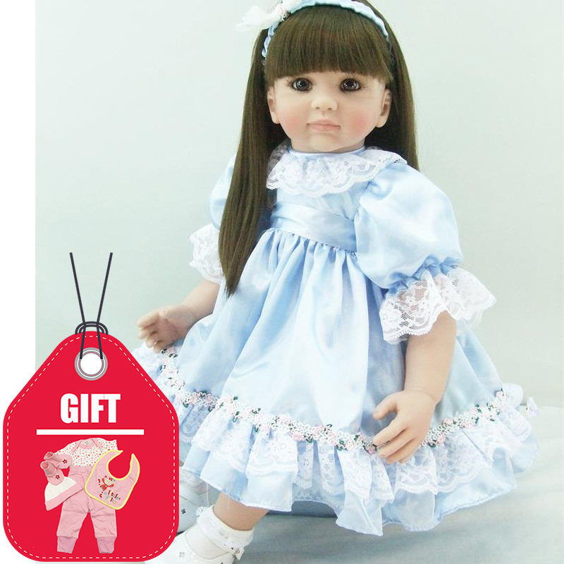 KEIUMI Realistic Princess 22 Inch Baby Doll Reborn Silicone Sttufed Doll Toy With Long Hair Reborn Babies 55 cm Kids Playmates KEIUMI Realistic Princess 22 Inch Baby Doll Reborn Silicone Sttufed Doll Toy With Long Hair Reborn Babies 55 cm Kids Playmates
