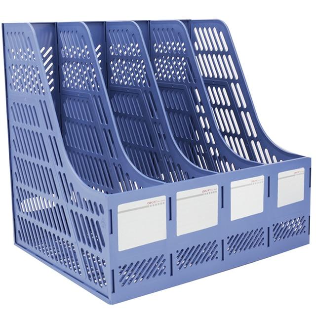 Random Color Doent Racks Tray Office Filing Organizer Desk Black A4 Holder