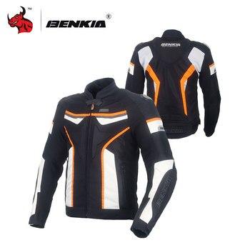 BENKIA Summer Motorcycle Jacket Men Racing Clothes Windproof Breathable Textile Cruiser Riding Moto Jacket Clothing kayak suit