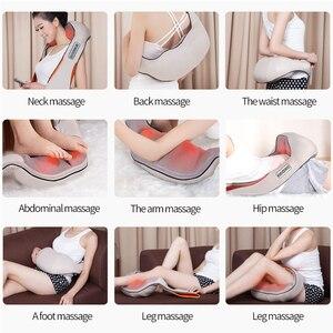 Image 3 - Массажер JinKaiRui U образный вибрирующий, Электрический инфракрасный массаж шиацу, разминающий массаж спины, шеи, плеч, тела
