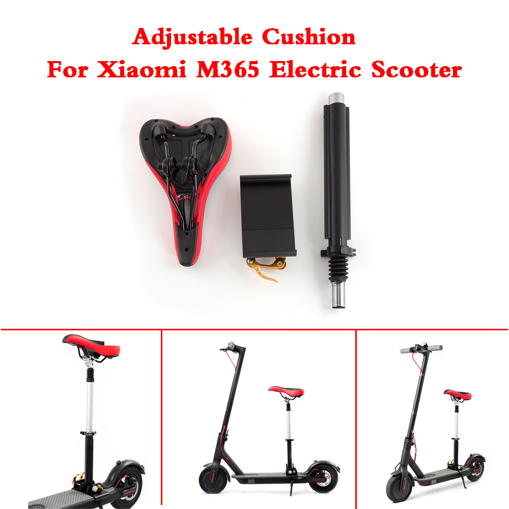 Electric Skateboard Saddle for Xiaomi M365 Electric Scooter Foldable Height Adjustable Shock-Absorbing Folding Seat ChairElectric Skateboard Saddle for Xiaomi M365 Electric Scooter Foldable Height Adjustable Shock-Absorbing Folding Seat Chair