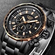 Watches Men 2019 Luxury Brand Lige Business Man Quartz Full Steel Waterproof Ana