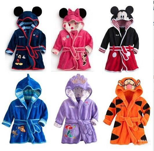 Mickey minnie bath robe inverno pijamas kids pyjamas boys girls warm inverno next
