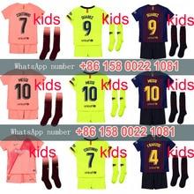 Los niños 2019 18 Barcelona fútbol jersey tercer 2018 Barcelonaes kit para niños  camisa COUTINHO un INIESTA SUAREZ MESSI tercera. 5fe21f42e3e44