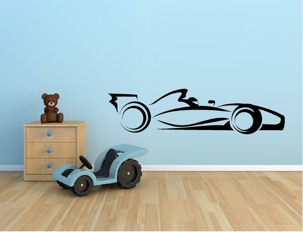 Hot Selling Racing Car Vinyl Wall Sticker Indy Car F1 Nascar Racing Mural  Art Wall Decal Kids Room Boy Bedroom Home Decoration In Wall Stickers From  Home ...