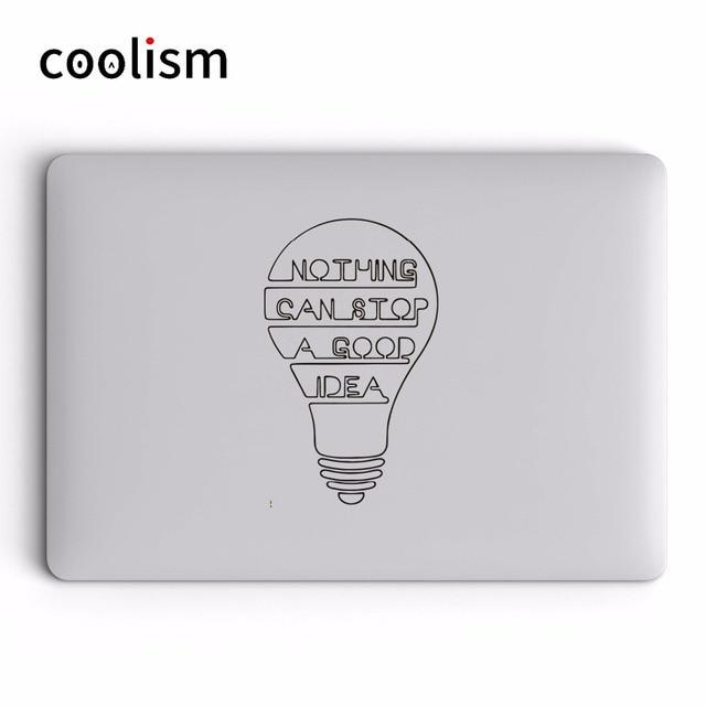 Sabedoria Lâmpada Laptop Vinil Citação Decalque Do Decalque para Apple Macbook Pro Ar Retina 11 12 13 14 15 polegada HP Mac Livro de Superfície Da Pele adesivo