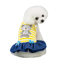 Fashion Pet Spring And Summer Bear Pattern Breathable Costumes Pet Sling Skirt Autumn Dress Pet Dog Clothes For Small Dog A1(China)