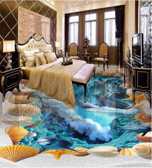 Customize 3d Flooring Ocean World Photo Wallpaper Murals Home Decor Living Room 3d Floor Tiles European Style Mural Photo Wallpaper Murals Wallpaper Muraleuropean Murals Aliexpress