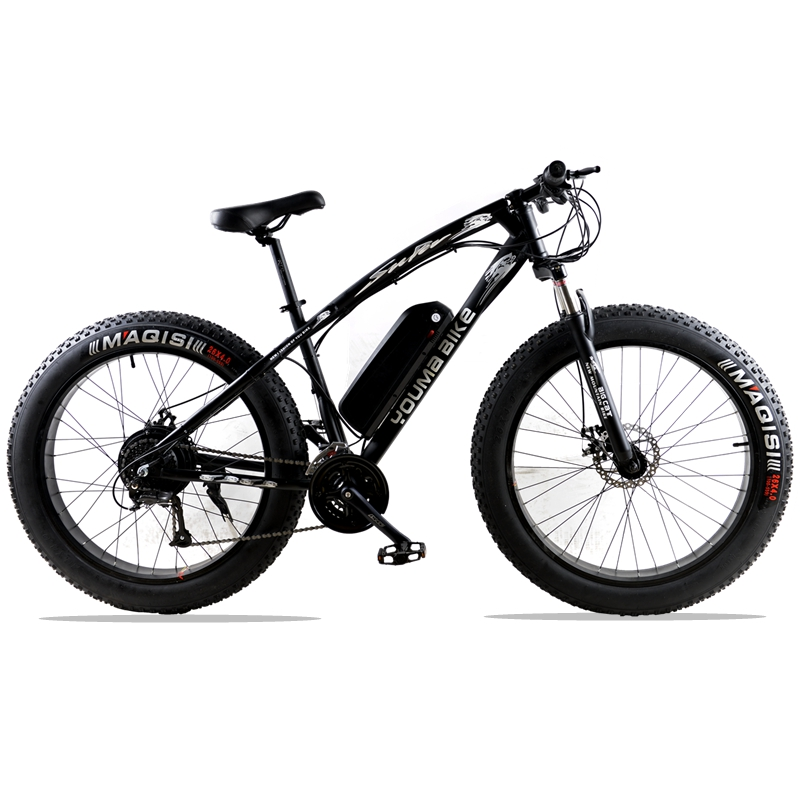 New 48V 500W Samsung Lithium Battery Electric Bicycle 10AN Large Capacity 27 Speed Shimano 26 X4.0 Electric Snow Bike