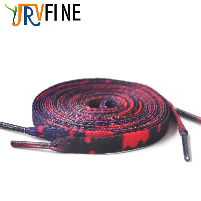 YJRVFINE 2 Pair British Style Shoestring Thin Shoelaces Colorful Leopard Flat Shoe Laces Shoe Strings Rope Gradient Shoelace цена