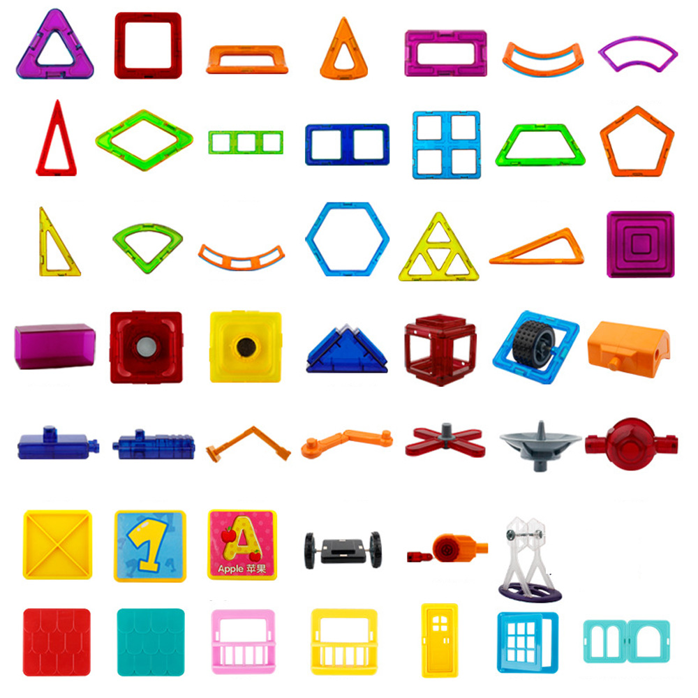 Modeling Accessories of Magnetic Blocks Toys Mutiple Model Style Magnet Building Blocks Construction Set Educational Toys