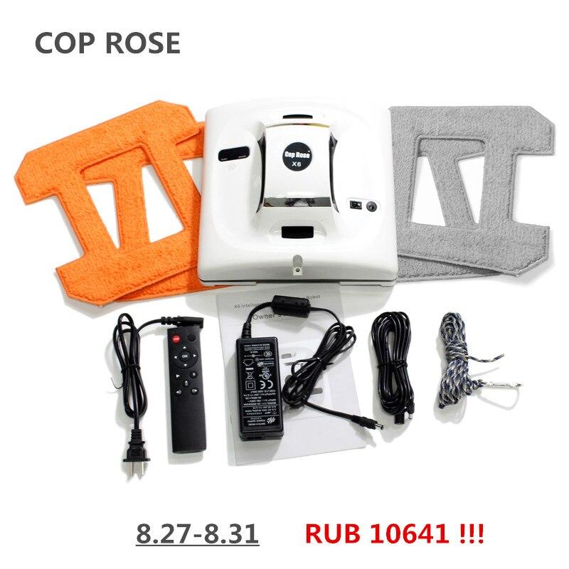 CP Rosa X6 limpieza de ventanas automático, inteligente lavadora, Control remoto, anti caída UPS algoritmo vidrio aspirador herramienta