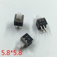 10pcs 5.8MM non locking switch 5.8*5.8mm lock free ammonium key line 6 pin 5.8X5.8