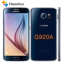 Samsung S6 odnowiony-oryginalny odblokowany S6 G920V G920P G920A G920F 4G LTE telefon 16MP aparat 32GB ROM Octa Core 5.1