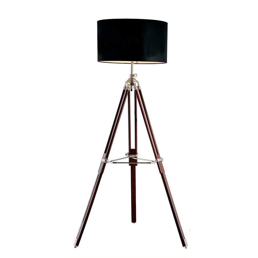 Post Modern Piano Luce treppiede Kung base nero bianco paralume in metallo Creativo Comodino lampada lampada da terra in legno 6 w E27 ha condotto la luce