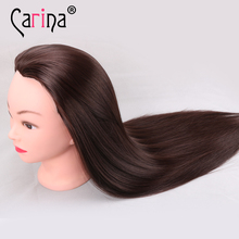 Brown Hair Mannequin Heads Training Head Styling Long Cosmetology Wig Hairdressing Models Made