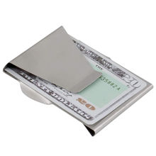 Wallet Money-Clip Clip-Clamp Credit-Card Bill Stainless-Steel Women Slim ISKYBOB Metal