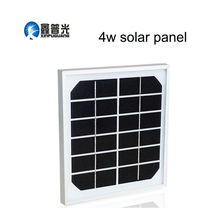 Xinpuguang 4W 6V Solar Panel 195*185*17mm Monocrystalline Glass Aluminum Frame Durable Portable Solar Charger Battery Outdoor
