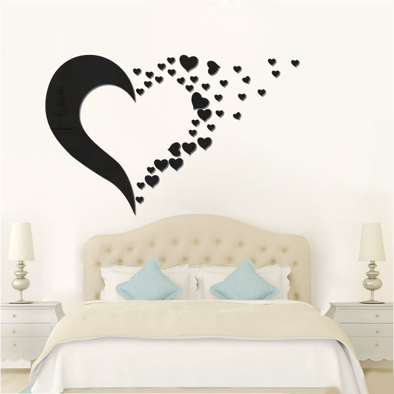 la fundecor amor espejo de pared pegatinas dormitorio sala de bodas interiores calcomanas decoracin